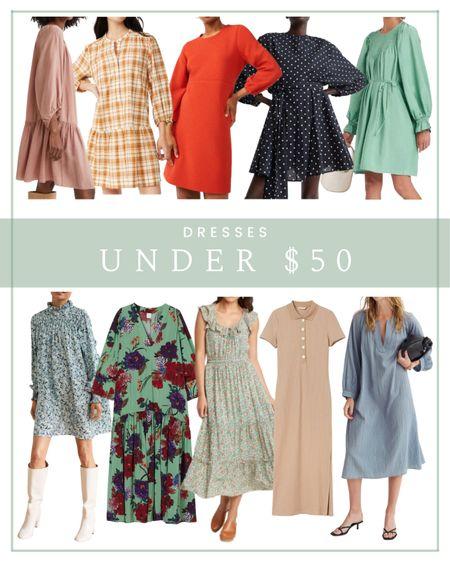 Dresses under $50  #LTKstyletip #LTKunder50 #LTKunder100