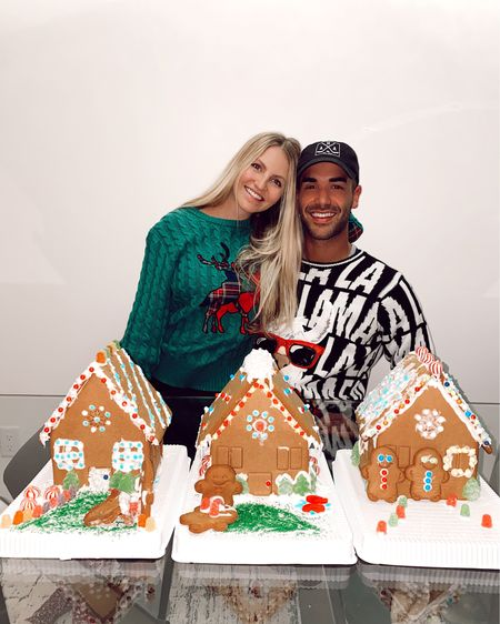 Last night we had a gingerbread house decorating competition and it was so fun. We wore Christmas sweaters festive drinks. Nicks fa la llama sweater hit it's under $30 from Walmart. Perfect to wear this holiday season if you are going an ugly party. For $50 why not! http://liketk.it/33KCh #liketkit @liketoknow.it   #LTKmens #LTKgiftspo #LTKunder50