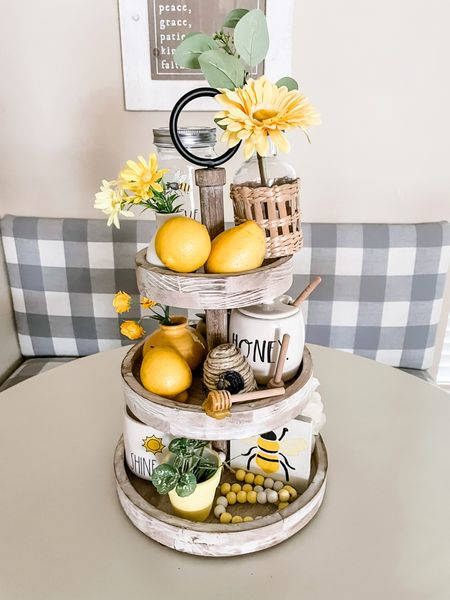 Tiered trays are a fun way to display seasonal decor or daily items you use in a pretty way.   Here are some fun tiered tray options.  #LTKfamily #LTKhome #LTKunder100