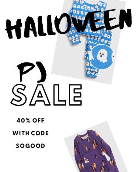 http://liketk.it/2UoA8 #liketkit @liketoknow.it #LTKkids #LTKfamily #LTKbaby  Halloween Pj sale for matching kids! 40% off with code SOGOOD
