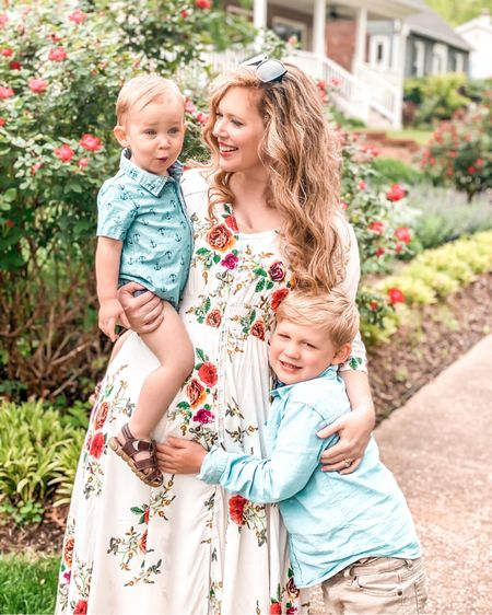 What a sweet Mother's Day I had with these two. They truly couldn't be any sweeter (or sillier). I'm not sure how I got TWO hams .... not sure where they got that trait 🤣🤣🤦🏼♀️ It's me.. 🤣  . I am one lucky mama for sure. They make me happy to get out of bed to greet their adorable faces even when I'm so tired I can't see straight. Motherhood makes you do crazy amazing things! 🤍🤍 So grateful for such a beautiful day with them. 🤍🤍 . Wishing all you other mamas out there a happy belated Mother's Day 🤍 .      .     PS Some mamas asked about the dress. Here it is!   #ltkmothersday #ltkdress   #LTKunder100 #LTKunder50