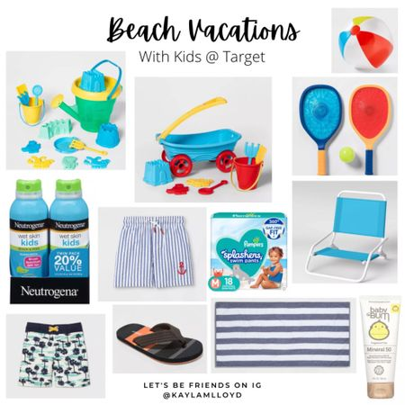 Beach vacation must haves // summer travel // Target // toddler http://liketk.it/3fjvQ #liketkit @liketoknow.it #LTKswim #LTKtravel #LTKkids