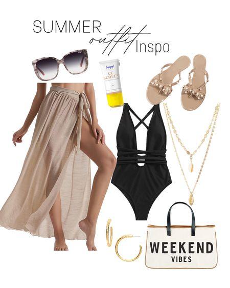 Beach vacation. Summer trends. Swimsuit. Beach vacation. Vacation looks. Amazon finds.   #LTKunder50 #LTKswim #LTKtravel