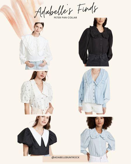 Peter Pan collar blouse   #LTKunder50 #LTKstyletip #LTKunder100
