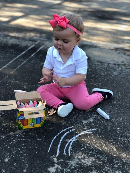 Today's a school day so we're outside coloring   #kidsactivities #toddleractivities #sidewalkchalk #outdooractivities #crayola  #LTKkids #LTKGiftGuide #LTKfamily