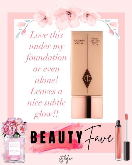 Charlotte tilbury wonder glow primer looks amazing under foundation      #LTKbeauty #LTKunder100 #LTKunder50
