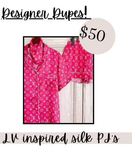 Check out these Luxury/Designer Inspired Silk PJ's for $50! Customizable! #StayHomeWithLTK #LTKsalealert #LTKunder50 #liketkit @liketoknow.it @liketoknow.it.home http://liketk.it/39mJa Download the LIKEtoKNOW.it shopping app to shop this pic via screenshot You can instantly shop my looks by following me on the LIKEtoKNOW.it shopping app