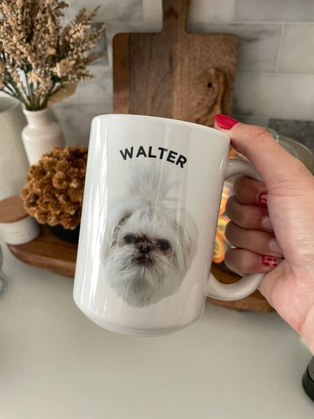 Omg look how cute this custom mug is!!! I linked the pet mug and baby mug options below! Fully customizable and would make such great Christmas gifts!     #LTKSeasonal #LTKhome #LTKunder50