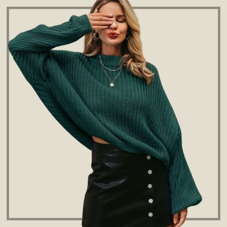 Drop shoulder oversized sweater   #LTKunder50 #LTKunder100 #LTKstyletip