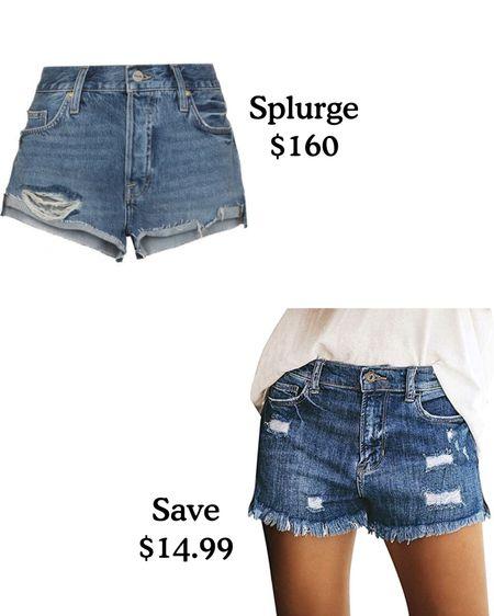 Love both of these jean shorts. Splurge or save?   #LTKunder50 #LTKSeasonal