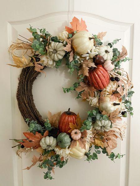 fall wreath under $30! full tutorial on my instagram   #LTKhome #LTKunder50