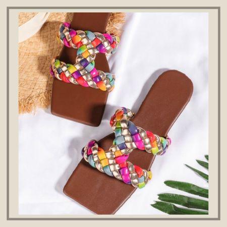 Colour block braided slide summer sandals   http://liketk.it/3idAK #liketkit @liketoknow.it #LTKshoecrush #LTKunder50 #LTKstyletip You can instantly shop my looks by following me on the LIKEtoKNOW.it shopping app