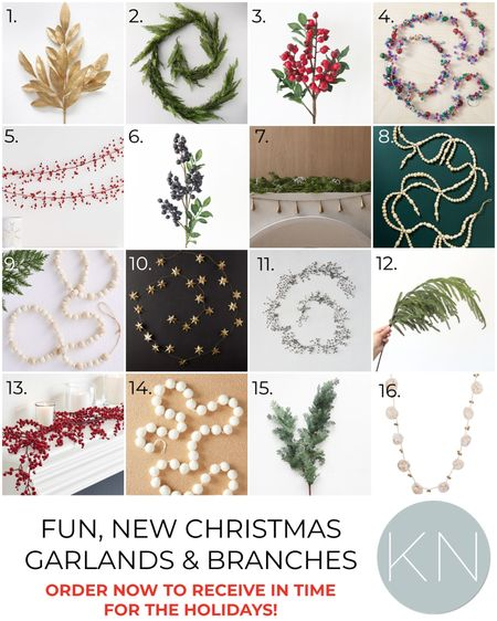 Fun, new Christmas garland and branches — order now to ensure delivery for the holidays! Home decor Christmas decor Christmas tree decor mantel decor   #LTKunder50 #LTKHoliday #LTKSeasonal