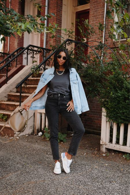 These @madewell pieces will be on repeat! From my classic denim jacket, sunglasses, kicks, necklaces and jeans, I love that everything can take me from summer into fall #ad Shop this look with a screenshot or head to my stories for the links! #everydaymadewell http://liketk.it/3k5eL #liketkit @liketoknow.it #LTKunder100 #LTKstyletip #LTKunder50