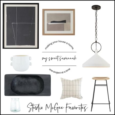 Some of my all time favorites from Studio McGee!  Gorgeous pendent lights, a black wood dough bowl, beautiful artwork, a favorite pillow of course, and more home decor/accents!  #LTKhome #LTKstyletip #LTKGiftGuide