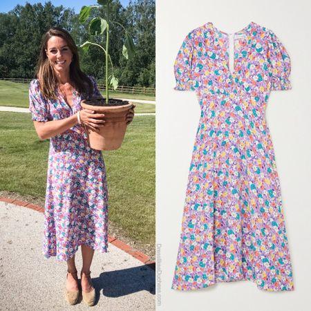 Kate Middleton in Faithfull the Brand Marie Louise Dress http://liketk.it/2Rhv2 #liketkit @liketoknow.it #LTKspring #LTKstyletip #LTKhome