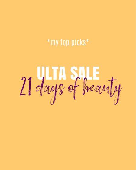 My top picks for ULTA 21 Days of Beauty Sale   Makeup & Skincare  #LTKsalealert #LTKbeauty #LTKunder50