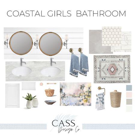 Girls bathroom decor Kids bathroom Bathroom decor Coastal decor