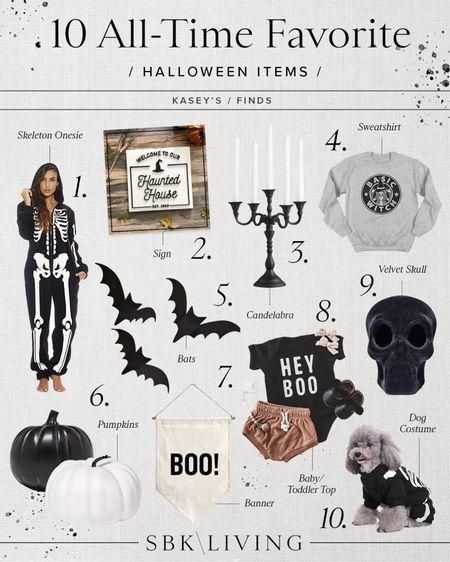 H A L L O W E E N \ My top 10 favorite #halloween items🖤👻🦇🤍💀  #halloweendecor #fall   #LTKSeasonal #LTKhome #LTKunder50