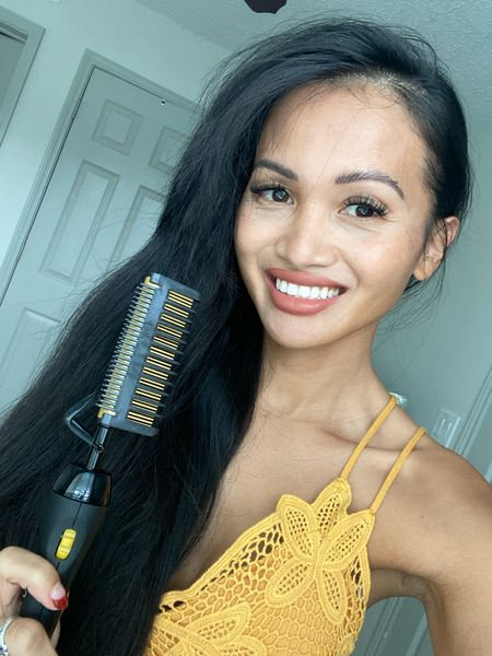 Hair comb straightener. Amazon find   #LTKunder50 #LTKsalealert #LTKbeauty