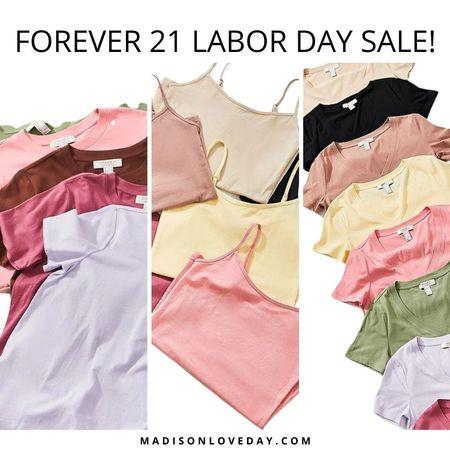 Forever 21 Labor Day Sale!   Mix & Match Tops and Bottoms: Buy 3, Get 1 Free   tees, tops, camis     #LTKSeasonal #LTKsalealert #LTKunder50