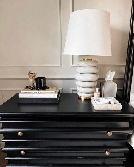 Nightstand, home decor, Kelly wearstler lamp #homedecor #bedroom   #LTKstyletip #LTKhome #LTKunder100