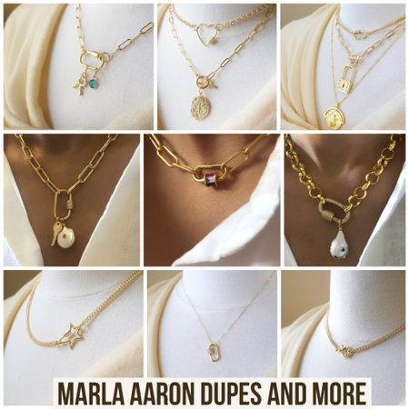 Marla Aaron Dupes and More! Links in LTK  #marlaaaron #carabiner #carabinernecklace #etsy #jewelry #styleblogger #bloggerstyle #dupe #dupes #affordablestyle #necklace #layers #layer #lauernecklace #trending #ltktrend #affordablefashion #rStheCon #LTKunder100 #LTKbeauty @liketoknow.it http://liketk.it/2UMfP #liketkit