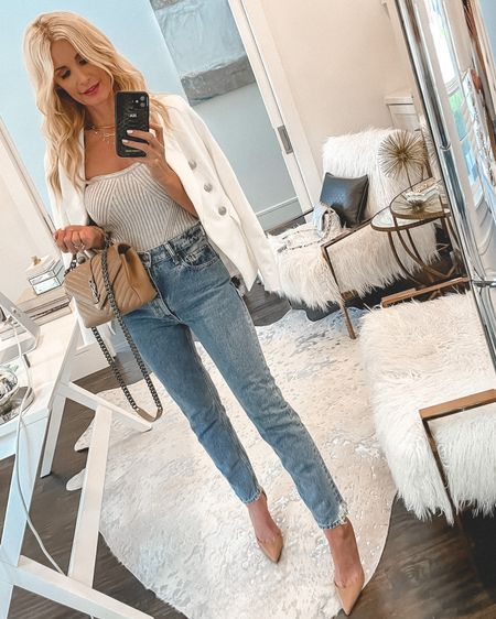 Happy weekend! 🤍✨ There's an amazing SALE going on in the @liketoknow.it app and I just shared tons of chic summer looks! This white blazer and stapless gray knit are 2 of my summer faves that I wear a ton and both are on SALE!! SHOP all of these fabulous summer looks (ALL ON SALE) by clicking the link in my bio. Have a beautiful day! ✨✨✨  #liketkit http://liketk.it/3hr9r #LTKunder100 #LTKunder50 #LTKsalealert Shop my daily looks by following me on the LIKEtoKNOW.it shopping app