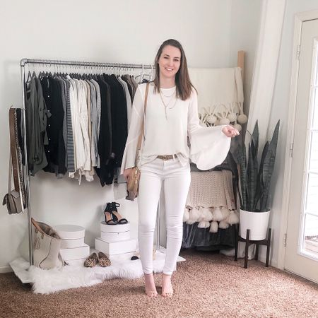 White on white to brighten up this Monday 🤍 http://liketk.it/2MScl #liketkit @liketoknow.it #StayHomeWithLTK #LTKworkwear