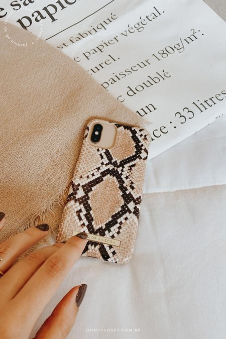 The cutest minimal case! Love the snake print 🤎   Get it for 50% less until the 13th! Use code blogohmycloset for an extra 5% off.    #LTKunder100 #StayHomeWithLTK #LTKstyletip @liketoknow.it http://liketk.it/33GkJ #liketkit
