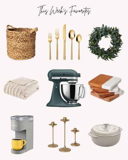 This weeks favorites, favorite things, home decor, small kitchen appliances, dining  Follow me for more ideas and sales.   Double tap this post to save it for later    #LTKunder100 #LTKhome #LTKHoliday
