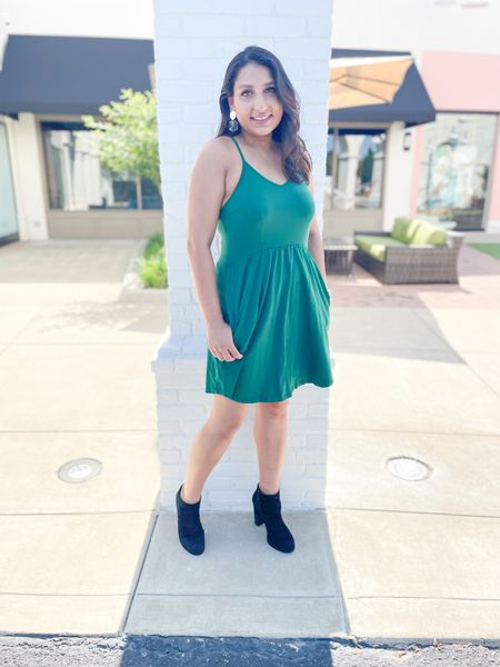 Green dress for fall.   #LTKSeasonal #LTKtravel #LTKstyletip