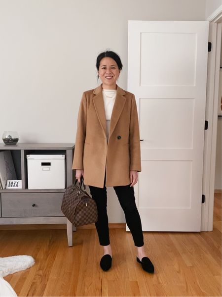 One of my favorite 2020 buys - a cashmere & wool camel blazer from The Curated. Lightweight but warm, this drapes beautifully as an outer layer without any bulk. Paired with a classic - the Speedy 30.   #LTKworkwear #LTKitbag