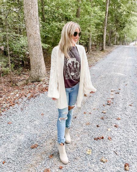 Amazon cardigan, amazon sweater, amazon fashion , hocus pocus tee , Abercrombie jeans   #LTKunder50 #LTKunder100 #LTKSeasonal