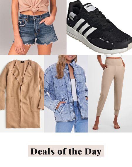 Deals of the day, daily deals, today's deals, adidas sneakers, jogger pants, quilted jacket, camel coat, sweater coat, denim shorts   #LTKsalealert #LTKunder50 #LTKunder100