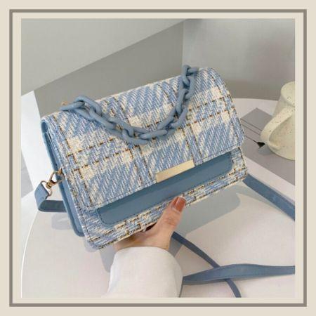 Plaid pattern chain decor purse  #LTKunder50 #LTKitbag #LTKstyletip