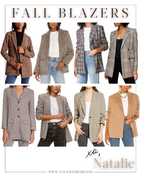 Fall blazers // plaid blazers, neutral blazers, and checked blazers http://liketk.it/2Wmfx #liketkit @liketoknow.it #LTKfall #LTKunder100 #LTKunder50