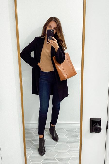 Favorites starting the rotation. Cashmere sweater in small. Jeans true to size (I got ankle length, I'm 5'6). Fall Booties and perfect fall coat tts for me    #LTKshoecrush #LTKstyletip #LTKworkwear