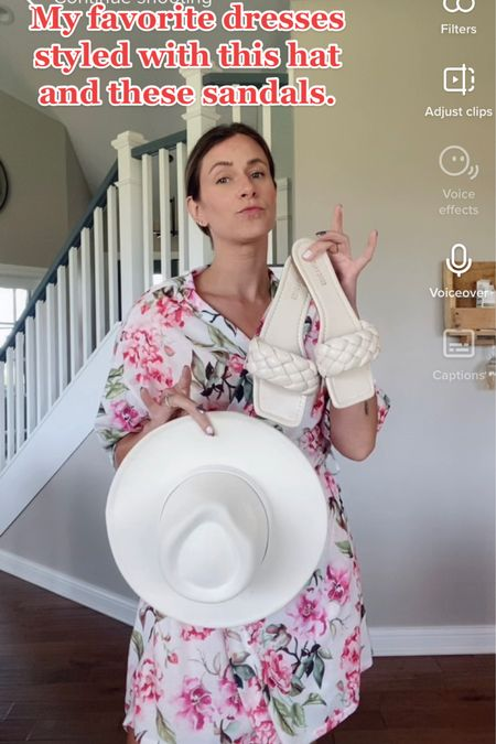 Fab dresses with this hat and sandals http://liketk.it/3iT97 #liketkit @liketoknow.it #LTKshoecrush #LTKsalealert #LTKstyletip