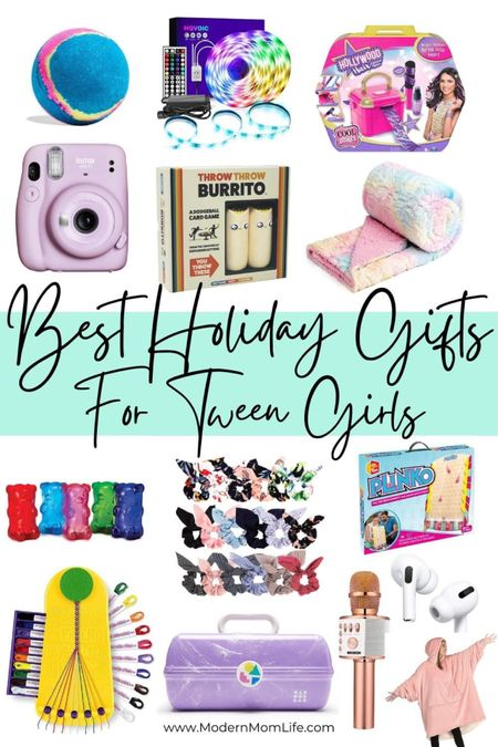 The best gifts for tween girls are here! These are so much fun and I secretly want the wearable blanket myself. More picks over at ModernMomLife.com. http://liketk.it/32o6n #liketkit @liketoknow.it #LTKkids #LTKunder50 #LTKfamily
