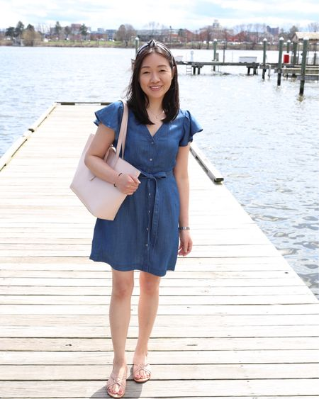 This denim shirtdress is so cute with the flutter sleeves and it's part of LOFT's Friends & Family sale for 40% off your entire purchase. Use code FRIENDS. I took my usual size XSP in the dress (review in my April 12th blog post). Tip: Sign up for mobile text alerts for an extra 10% off one-time use code. There's also a quick new blog post on www.whatjesswore.com with my sales picks and a few new reviews. Thanks for reading! 😘  @liketoknow.it http://liketk.it/2BbWm #liketkit #loveloft petite #LTKsalealert #LTKshoecrush #LTKitbag #LTKspring #LTKunder50 #LTKstyletip #LTKunder100