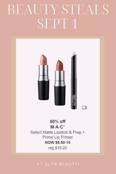 Mac lipsticks are 50% off today only at Ulta! #ultabeauty #maclipstick #ultasale  #LTKunder50 #LTKbeauty #LTKsalealert