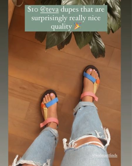 Teva dupes for $10! Perfect for spring! #liketkit   http://liketk.it/3cB8n @liketoknow.it #LTKSpringSale #LTKbeauty #LTKshoecrush @liketoknow.it.home Follow me on the LIKEtoKNOW.it shopping app to get the product details for this look and others