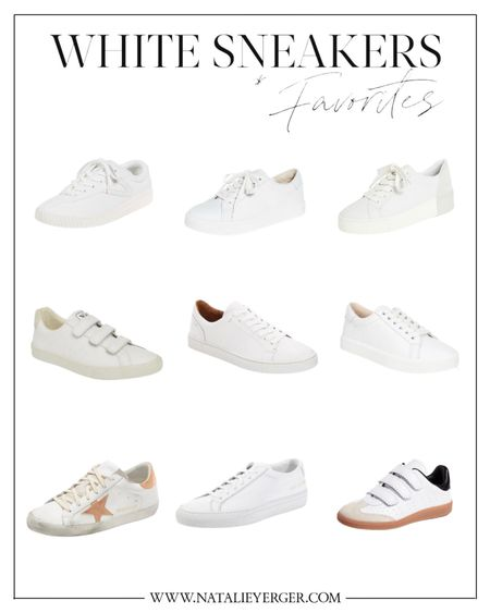 White sneakers for spring and summer—my top picks. I own Golden Goose and Veja and LOVE them. My sister owns the Isabel Marant pair and recommends! The Tretorns (top left) are under $100 and have amazing reviews.    #LTKshoecrush #LTKunder100 #LTKSeasonal