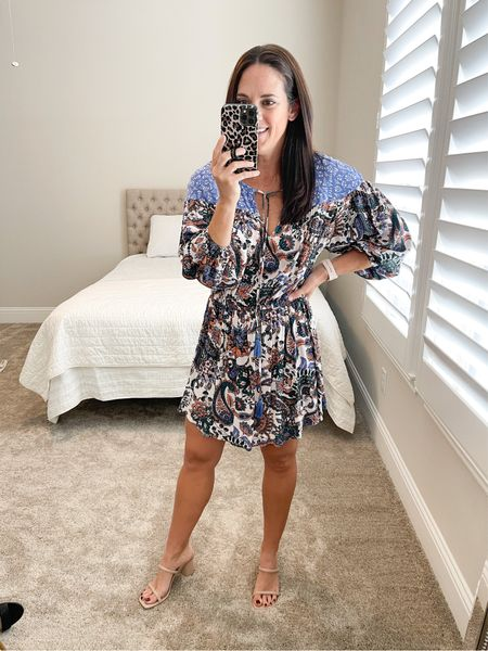 $20 sale on this cute print!! It's on the shorter side so if you are much taller than me it may be more of a tunic.  I'm 5'6 for ref and in a small.    #LTKwedding #LTKstyletip #LTKsalealert