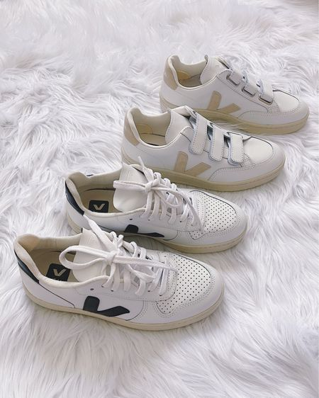 White sneakers, Veja V-10 sneakers, Veja V-Lock sneakers, black and white sneakers, pink sneakers, neutral shoes, casual shoes. @liketoknow.it http://liketk.it/3hNJw #liketkit   #LTKshoecrush #LTKstyletip