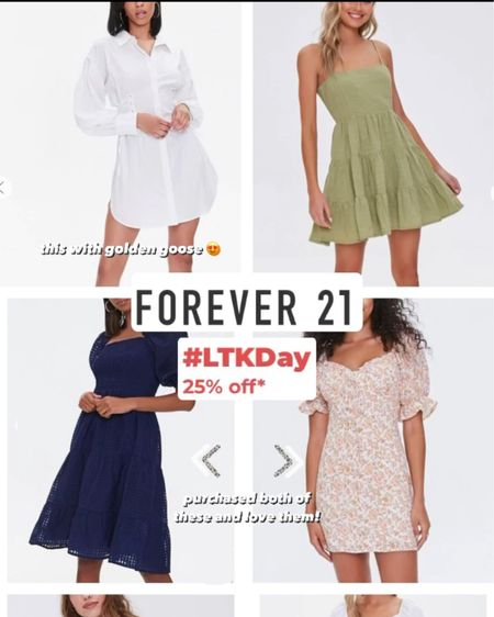 25% off in app purchase at forever 21! Additional sale dresses plus some I ordered! http://liketk.it/3hqe2 #LTKDay #LTKunder50 #LTKunder100  #liketkit @liketoknow.it