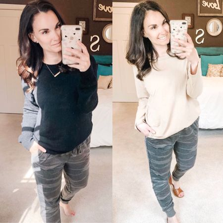 The most popular item of the week are these camo joggers! I have to say I'd wear them every day. They are the perfect fit, love the ankle and the option to wear them mid calf. The material is light making them wearable through the Summer with tanks or on cool Summer nights. http://liketk.it/2Nrdj http://liketk.it/2NrAp #liketkit @liketoknow.it #LTKstyletip You can instantly shop my looks by following me on the LIKEtoKNOW.it shopping app