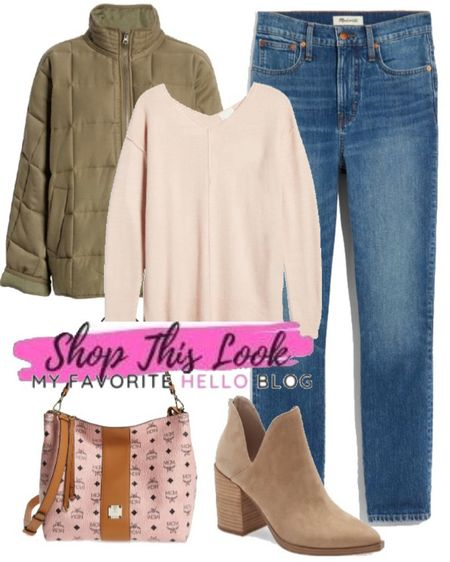 Nordstrom anniversary sale casual fall outfit with jeans and booties. http://liketk.it/3jAeC #liketkit @liketoknow.it #nsale #nordstrom  #LTKsalealert #LTKstyletip #LTKunder100