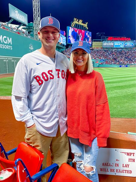 Red Sox game! Baseball game outfit, game day style! Size: XS   #LTKfamily #LTKSeasonal #LTKtravel